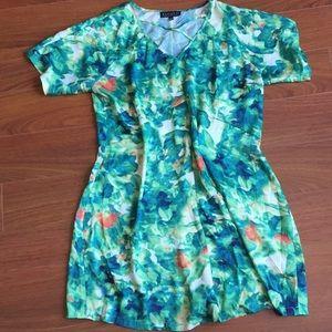 Eloquii Green Printed Dress
